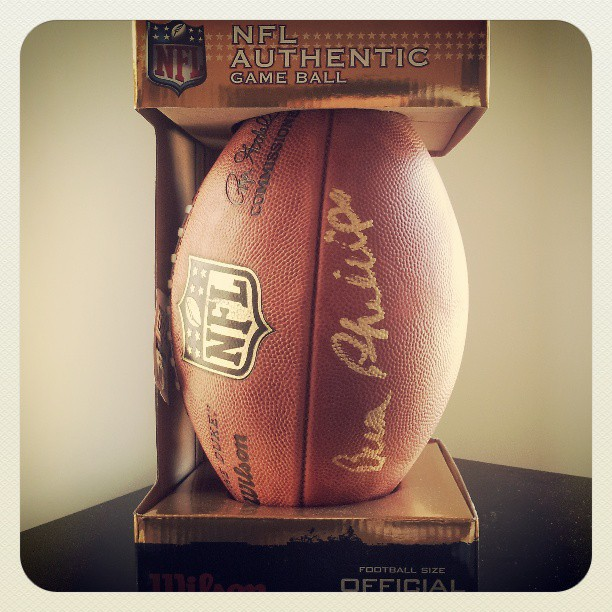 Bum Phillips autographed Wilson F1100 Official NFL gameball